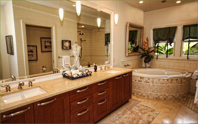 Master Bathroom Huge ho'olei luxury villa rental grand wailea beach 3 bedroom sleeps 6