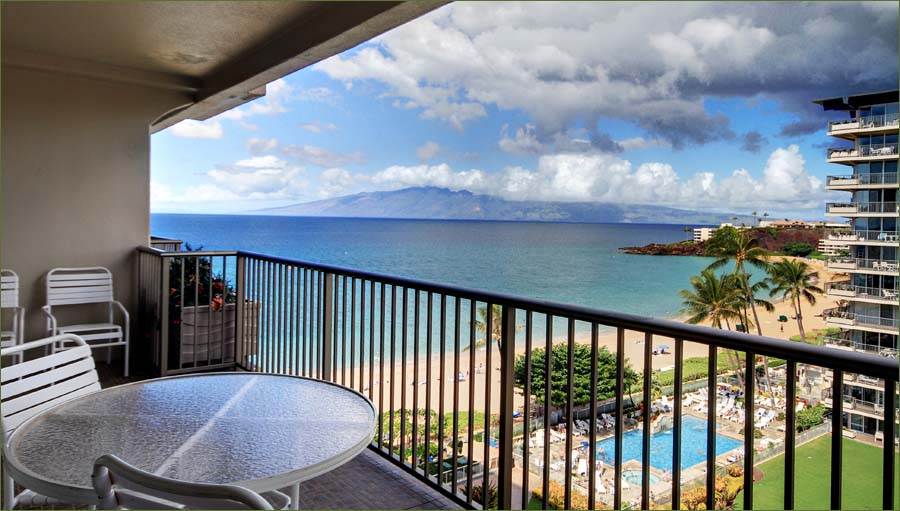 Maui beach condos whaler kaanapali by owner 949 720 1143 for Balcony overlooking city