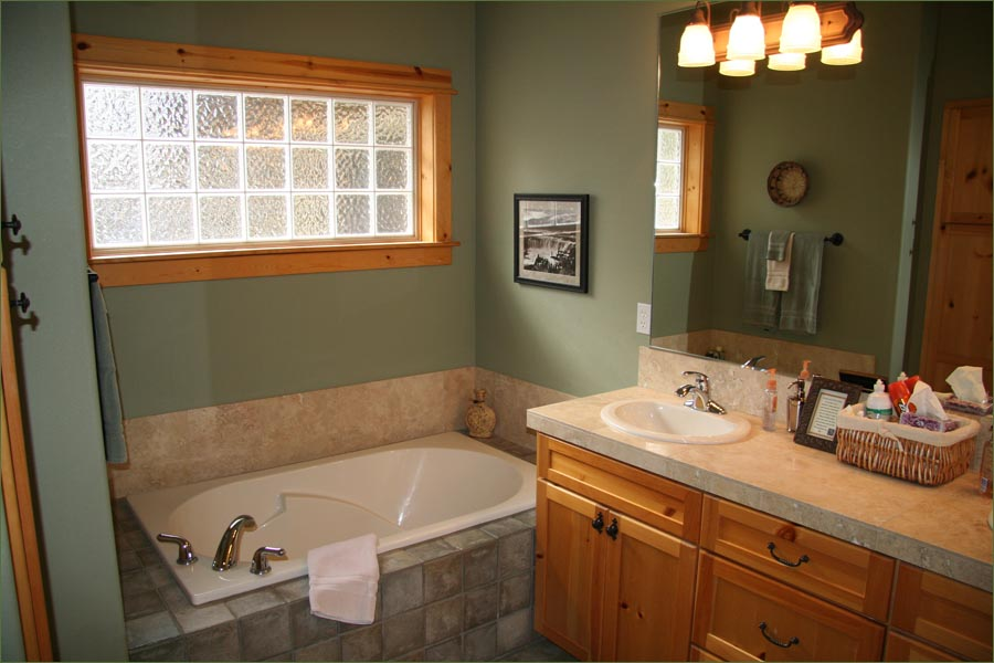 Private Master Bathroom With Large Oversized Tub And Separate Shower